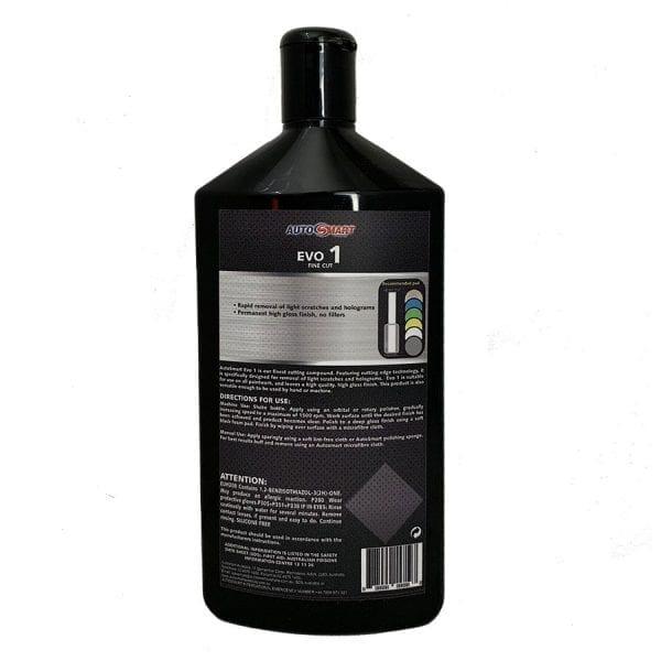 AutoSmart Evo 1 Fine Cutting Compound back label