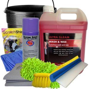 AutoSmart Wash Tub Kit. Car cleaning kit