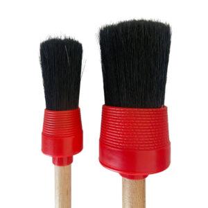 Hog hair car detailing brushes